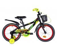 """Велосипед 16"""" Formula STORMER 2020 (черно-красный с желтым)"""