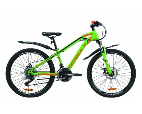 """Велосипед 24"""" Formula DAKAR 2020 (зелено-оранжевый с черним (м))"""