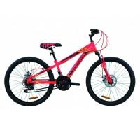 """Велосипед 24"""" Discovery RIDER DD 2020 (малиново-черный с желтым)"""
