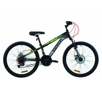 "Велосипед 24"" Discovery RIDER DD 2020 (черно-салатно-серый (м))"