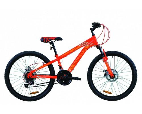 """Велосипед 24"""" Discovery RIDER DD 2020 (красно-оранжевый с синим (м))"""