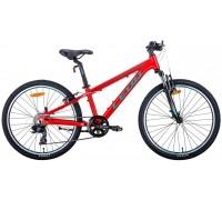 """Велосипед 24"""" Leon JUNIOR AM 2020 (красно-бирюзовый с черным)"""