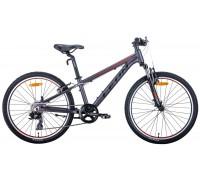 """Велосипед 24"""" Leon JUNIOR AM 2020 (антрацитовый с красным (м))"""