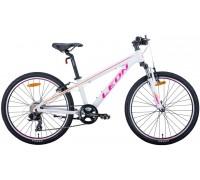 """Велосипед 24"""" Leon JUNIOR AM 2020 (бело-малиновый с оранжевым)"""