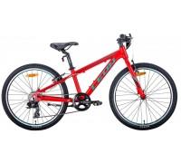 """Велосипед 24"""" Leon JUNIOR 2020 (красно-бирюзовый с черным)"""