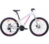 """Велосипед 26"""" Leon SUPER JUNIOR 2020 (бело-малиновый с оранжевым)"""