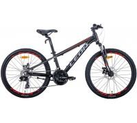 """Велосипед 26"""" Leon SUPER JUNIOR 2020 (антрацитовый с красным (м))"""