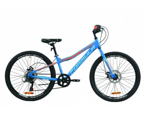 """Велосипед 24"""" Formula FOREST DD 2020 (сине-оранжевый )"""