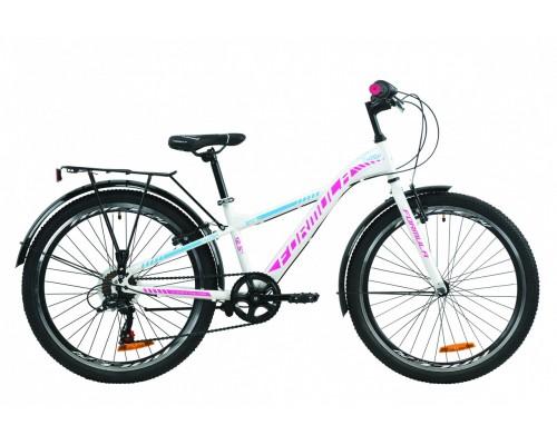 """Велосипед 24"""" Formula MASK 2020 (бело-голубой с малиновым)"""