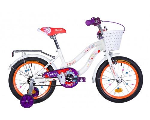 """Велосипед Velotrade 16"""" Formula Flower (бело-оранжевый) OPS-FRK-16-111"""