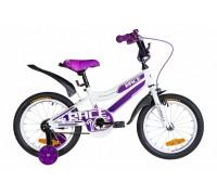 """Велосипед 16"""" Formula RACE рама-9"""" St 2020 бело-фиолетовый с крылом"""
