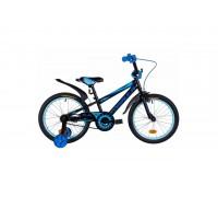 """Велосипед Velotrade 18"""" Formula SPORT 2020 рама-9,5"""" St 2020 черно-синий с голубым"""