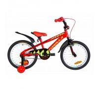 """Велосипед Velotrade Formula Wild 18"""" 2020 рама 9"""" красно-черный с салатовым, с крылом"""