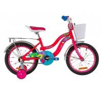 """Велосипед Velotrade 16"""" Formula Flower розовый с багажником с крылом"""