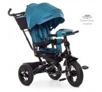 Велосипед детский трехколесный Turbotrike с поворотным сидением М5448HA-21T изумруд