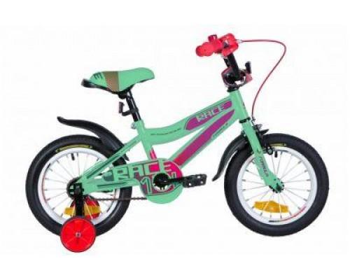 """Велосипед ST 14"""" Formula RACE рама-8,5"""" бирюзово-фиолетовий с малиновым с крылом Pl 2020"""