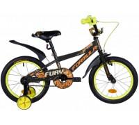 """Велосипед ST 16"""" Formula FURY рама-8,5"""" черно-оранжевый (м) с крылом Pl 2021"""