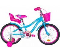 """Велосипед ST 18"""" Formula ALICIA рама-9,5"""" голубой с крылом St, с корзиной Pl 2021"""