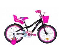 """Велосипед ST 18"""" Formula ALICIA рама-9,5"""" черный с розовым с крылом St 2021"""