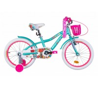 """Велосипед AL 18"""" Formula CREAM рама-9,5"""" бело-аквамариновый с крылом St, с корзиной Pl 2021"""