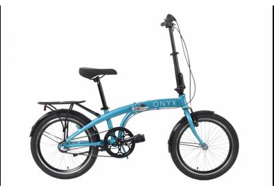 """Велосипед AL 20"""" Dorozhnik ONYX планет. рама-12,5"""" синий с багажником зад AI, с крылом St складной 2020"""