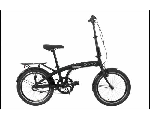 """Велосипед AL 20"""" Dorozhnik ONYX планет. рама-12,5"""" черный с багажником зад AI, с крылом St складной 2020"""