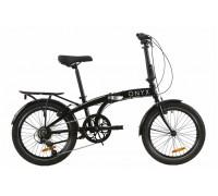 """Велосипед AL 20"""" Dorozhnik ONYX рама-12,5"""" черный с багажником зад AI, с крылом St складной 2020"""