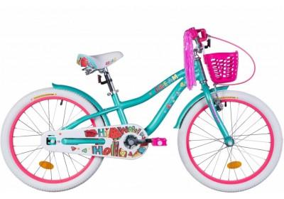"""Велосипед AL 20"""" Formula CREAM  рама-11"""" бирюзовый  с крылом St, с корзиной Pl  2021"""