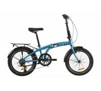 "Велосипед AL 20"" Dorozhnik ONYX рама-12,5"" синий с багажником зад AI, с крылом St складной 2020"