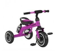 Велосипед трехколесный Turbotrike M 3648-M-2 со светящимися колесами фиолетовый